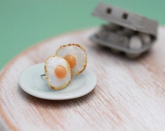 Fried Eggs - Studs / Post Earrings