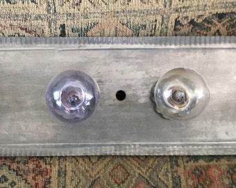 Handmade Primitive (Prim) Style Bar Tin Four (4) Light Fixture