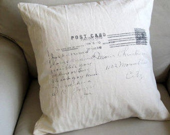 Post card for Marie decorative designer throw accent toss pillow 22x22 includes insert