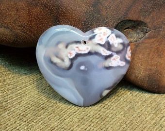 Natural Dendrictic Agate Heart
