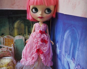 BLYTHE DRESS -  Floating on the Clouds Hand-Dyed Silk Gown - Pink