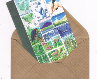 High Dive Summer, Wild Swimming Notecard - Postage Stamp Bon Voyage Card
