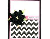 Birthday card for female, magnolia flowers, happy birthday, birthday for mom, birthday for friend, handmade birthday cards