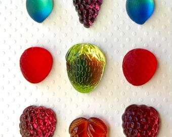 Collection of Glass Fruit Cabochons