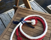 Tied the Knot Wedding Ceremony Rope - 5ft Red - 5ft Off White - Cream Rope -  Cotton Rope - Wedding Rope -Fisherman's Knot - Blue Available