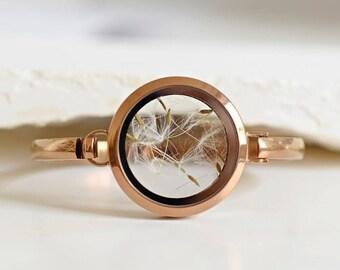 Rose Gold Plated Bracelet - Real Dandelion