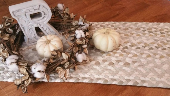 "Braided table runner 13"" x48"""