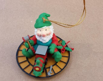 "Santa Grubby – ""Santakins Collectable"" - Santa's Helper - Christmas Ornament"