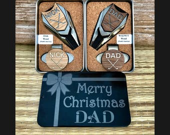 Christmas Gift for Dad,Personalized Golf Ball Marker & Divot Tool Set, Dad Gift, Men's Gift, Husband Gift, Golf gifts for men, Golf Gift Set