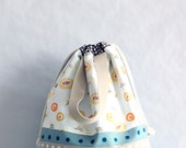 Drawstring bag for boys, Italian nursery, Italy preschool drawstring bag, project bag, knitting project bag, sustainable goods ready to ship