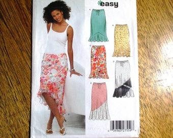 Pretty BOHO Bias Cut Patchwork Swirl Skirt / Pretty Summer Ruffle Skirt - All Sizes (8 to 18) - UNCUT ff Sewing Pattern New Look 6343