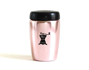 West Bend Salt Pepper Shaker Pink Black Copper Anodized Aluminum Pepper Mill