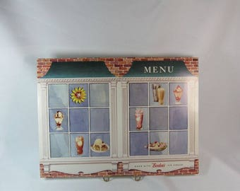 Vintage Borden's Elsie The Cow Dairy Ice Cream Menu Cover