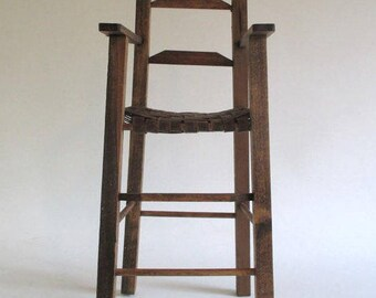 Doll Chair, Vintage Wooden Classic Design Furniture Nursery Child's Room Decor, Display Photo Prop