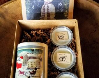 Holiday Gift Box ~ Plug in Wax tart warmer &  soy wax tarts