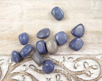 Dumortierite Tumbled Stones - Polished Dumortierite - Blue Quartz - Healing Crystals and Stones - Chakra Stones - Reiki Crystals - Blue