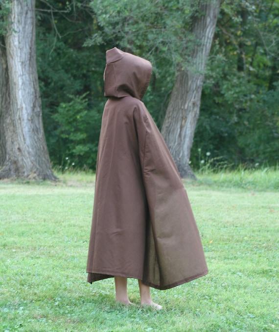 Dark Brown Cloak, Youth, Hooded