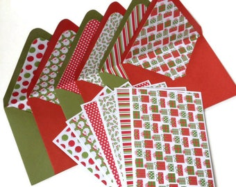 Set of 6 // Blank Christmas Cards // Blank Note Cards // Christmas Stationery // Holiday Cards // Christmas Note Cards // Stationery Set