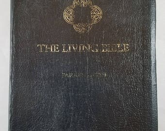 Living Bible--Many Pages Missing--For Use in Crafts