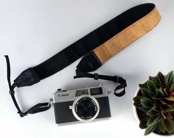 Camera strap, cork camera strap, vegan camera strap, cork strap, vegan strap, natural camera strap, cork accessories,cork camera accessories