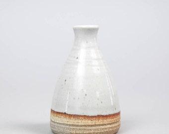 Bud Vase, hand thrown stoneware vase by Hanselmann Pottery
