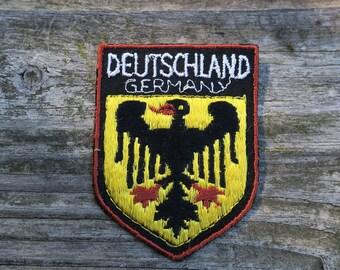 Vintage Deutschland Embroidered Travel Patch