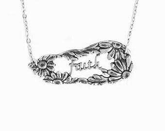 Daisy Faith Inspirational Necklace