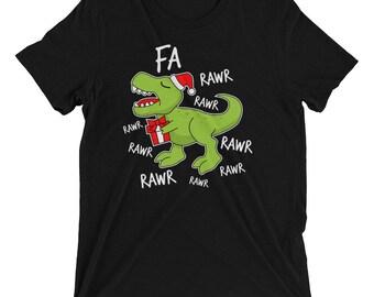 Dinosaur Christmas, Christmas Dinosaur, Tyrannosaurus Rex, TRex Christmas Shirt, Fa Rawr Rawr, Dinosaur Shirt, Funny Christmas TRex