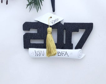 Personalized 2017 Graduation Christmas Ornament / College Graduation Ornament / High School Graduation / Graduate