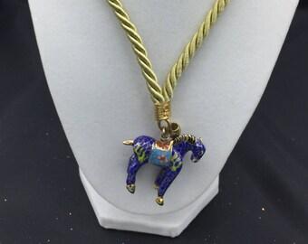 "Cloisonné ""Trojan"" Horse - Opera Length Necklace"