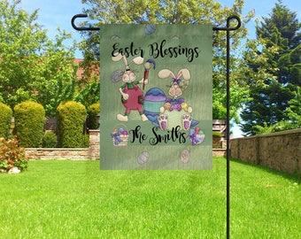 Easter Flag, Personalized Easter Flag, Personalized Flag, Garden Flag, Easter Flags, Easter Decor, Personalized Gifts, Custom Flags