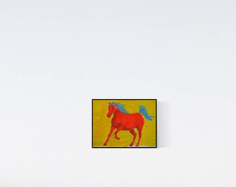 Horse portrait: my little red pony - custom horse portrait - horse illustration - horse drawing - horse painting