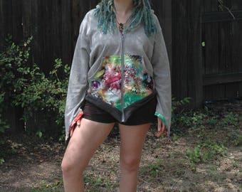 Handmade Women's Pixie Hoodie. Elvin Hood.
