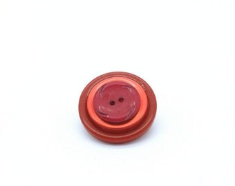 Red Brooch - Button Brooch - Red Button Pin - Red Wedding - Vintage Button Pins - Button Pins - Button Jewellery - Upcycled Buttons