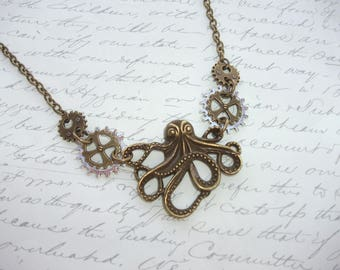 Steampunk octopuss necklace