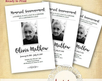 Funeral Program Template Funeral Program for Memorial Order