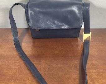 Preview, Black Leather Purse, Bag, Shoulder Bag, Gold Tone Hardware, Key Ring