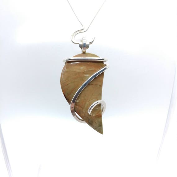 Morrisonite Jasper Pendant | Picture Jasper Pendant | Sterling Silver Pendant | Morrisionite Pendant | Rustic Picture Jasper Pendant