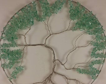 Green / Teal Glass Tree of Life