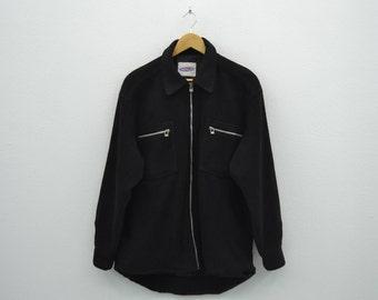 Lightning Bolt Jacket Vintage Lightning Bolt Fleece Jacket Mens Size L