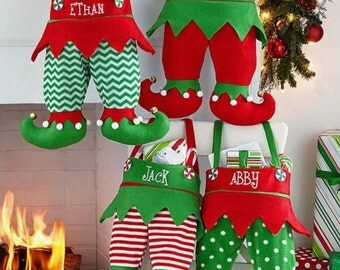 Personalized Elf Stockings Sacks | Personalized Stockings | Christmas Gifts | Elf Stockings | Christmas Stockings