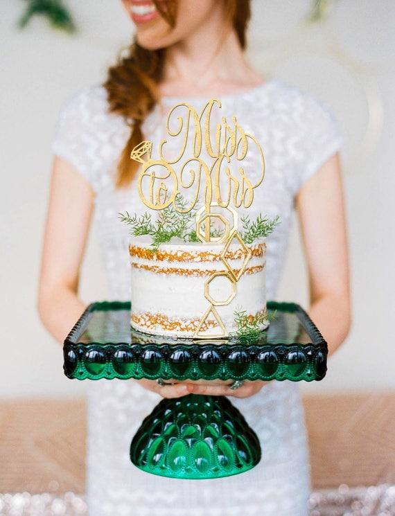 Bridal Shower Cake Topper, Bridal Shower Cake, Miss to Mrs Topper, Miss to Mrs Cake Topper, Gold Cake Topper, Rose Gold Cake Topper