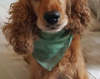 Pure Silk Dog Scarf, silk square, silk scarf, dog accessories