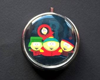 """Pillbox or pill box, jewelry, candy resin and metal """" South Park """""""