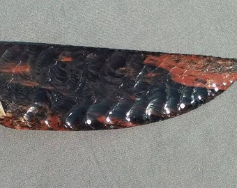 Free Shipping!!! 25 This Handcrafted, Buttes Gold Sheen Obsidian with Deer antler handle knife. Would make a great gift or to keep.