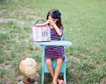 SALE-Monogrammed Lunch Pail | Monogrammed Lunchbox | Jadelynn Brooke | Back to School | Teen Lunchbox | Girls Lunchbox | Preppy Lunch Pail