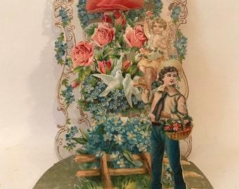 Antique Raphael Tuck Fold Out Valentine