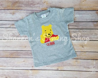 Winnie the Pooh Shirt, Pooh Bear Shirt, Winnie the Pooh Birthday