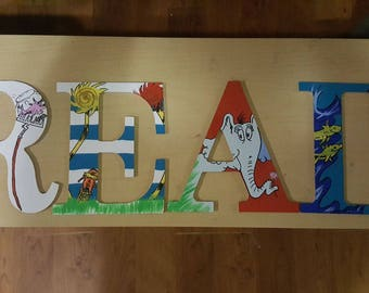"Dr. Seuss-Themed ""READ"" Letters"