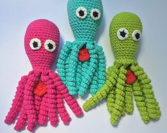Preemie Octopus, Preemie Jellyfish, Crochet Octopus, Crochet Jellyfish, Octopus for baby